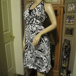 a.n.a. Dress Black & White Halter Dress size 16